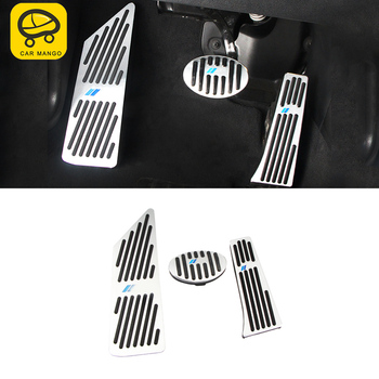 CARMANGO for BMW F48 X1 2016 2017 2018 Car Styling Accelerator Rest Brake Pedal Cover Trim Frame Sticker Interior Accessories