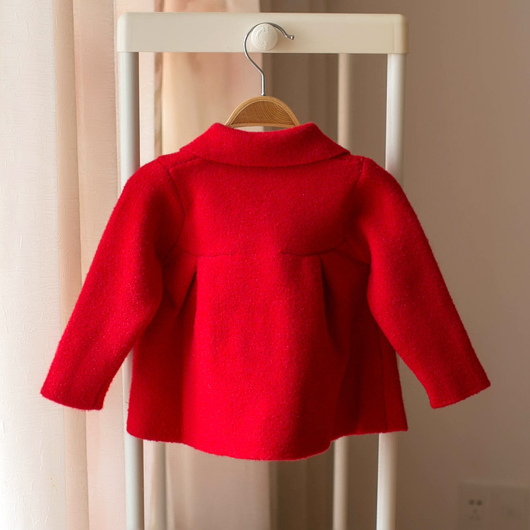 Mmtkids Korean-style 2019 Autumn And Winter Kids' Sweater Girls Solid Color Fold-down Collar Skirt Tops Small CHILDREN'S H745