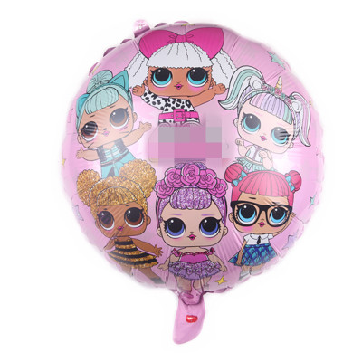 LOL Suprise Dolls Balloon 18inch Figure Balloon Toys Lol Party Decoration for Home Foil Balloons Toy Toys Birthday Gift for kids
