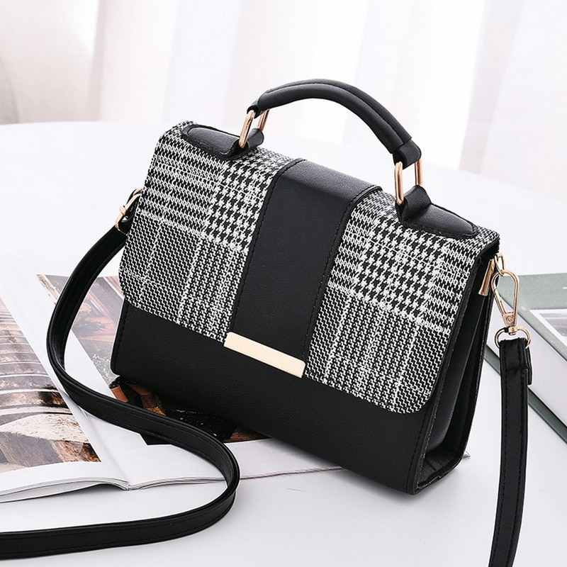 JODIMITTY Women Fashion PU Leather Shoulder Small Flap Crossbody Handbags Top Handle Tote  Messenger Bags