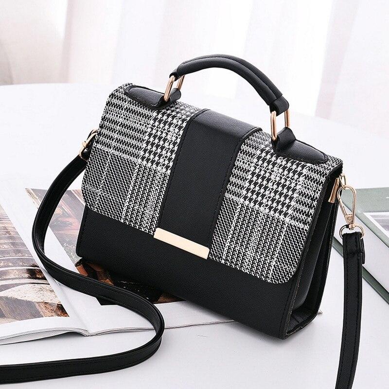 JODIMITTY Women Fashion PU Leather Shoulder Small Flap Crossbody Handbags Top Handle Tote Messenger Bags