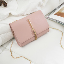 Korean fashion simple solid color tassel ornaments small square bag 2020 summer new product single shoulder diagonal bag 2020 new simple fashion solid color transparent jelly color small square bag diagonal bag diagonal bag
