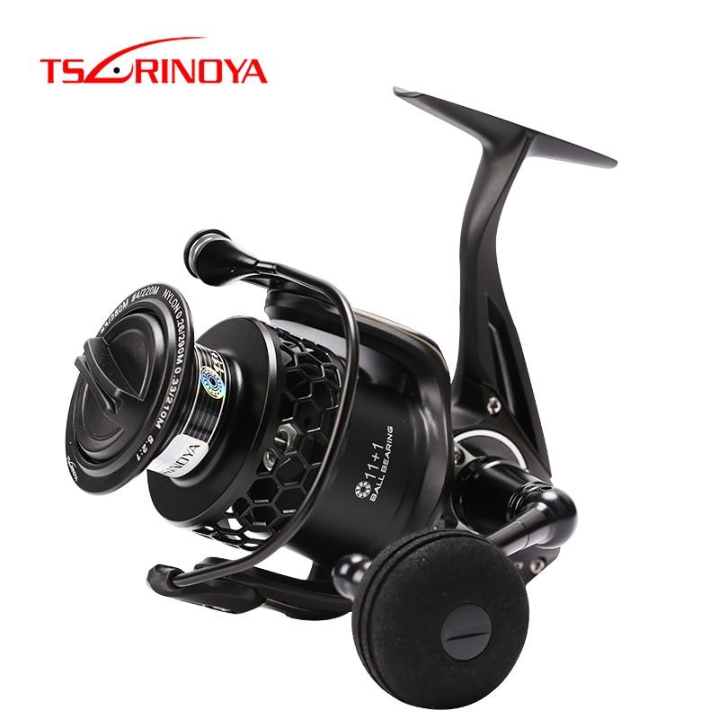 TSURINOYA Fishing Lure Reel Full Metal SPIRIT TSP Series Fishing Reel 4000 5000 Drag 12kg 12BB Saltwater Spinning Feeder Reel