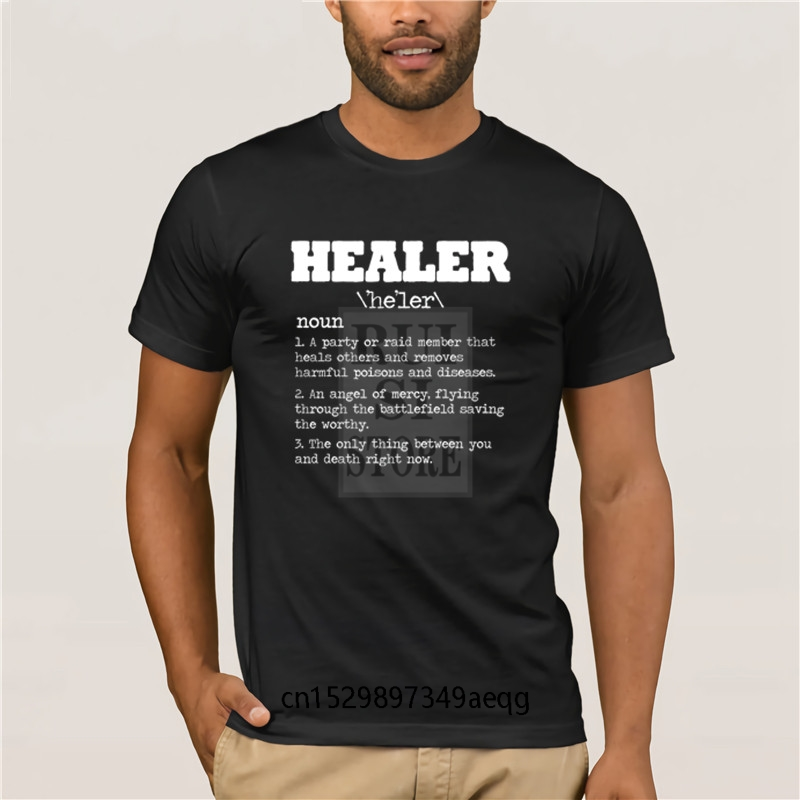 Cotton fashion 2020 trend T shirt Healer RPG Gamer Video Game MMORPG PC Gamer WoW Horde Alliance Rogue Summer T Shirt Fashion image