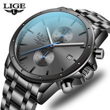 2020 saatler erkekler için su geçirmez spor erkek izle LIGE üst marka lüks saat erkek iş kuvars saatler Relogio Masculino