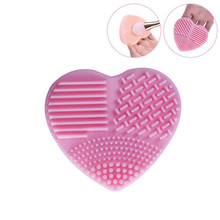 1 Pcs Hart Vorm Silica Handschoen Scrubber Borstel Siliconen Cleaner Cosmetische Cleaning Tools Beauty Up Kwasten Cleanser Mat