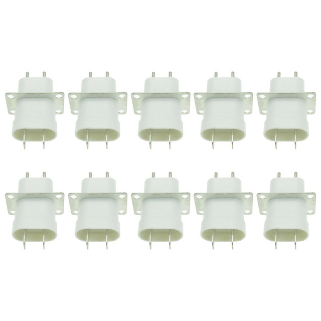 10Pcs Electronic Microwave Oven Magnetron Plug 4 Filament Pin Sockets Converter Home Microwave Oven Spare Parts