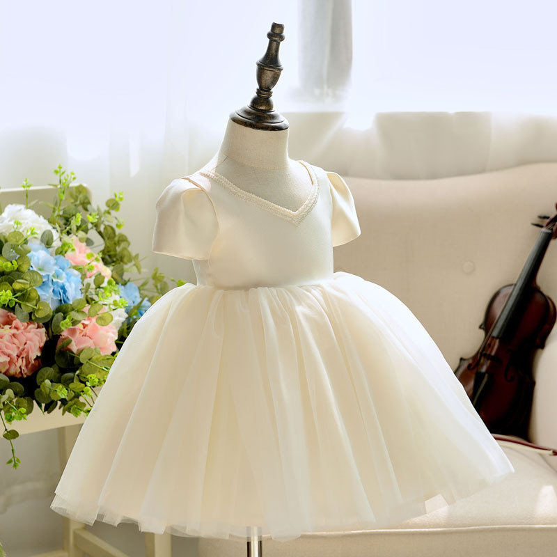 Girls Piano Costume Children Wedding Dress Flower Boys/Flower Girls Princess Skirt Baby A Year Of Age Birthday BABY'S FIRST Mont