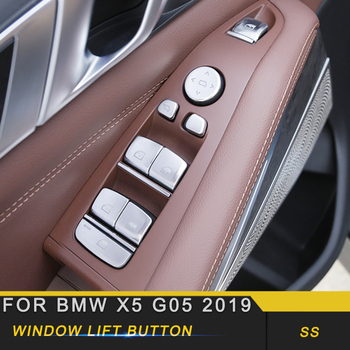 For BMW X5 G05 2019 Car Styling Door Gate Window Control Button Switch Cover Trim Frame Sticker Interior Accessories