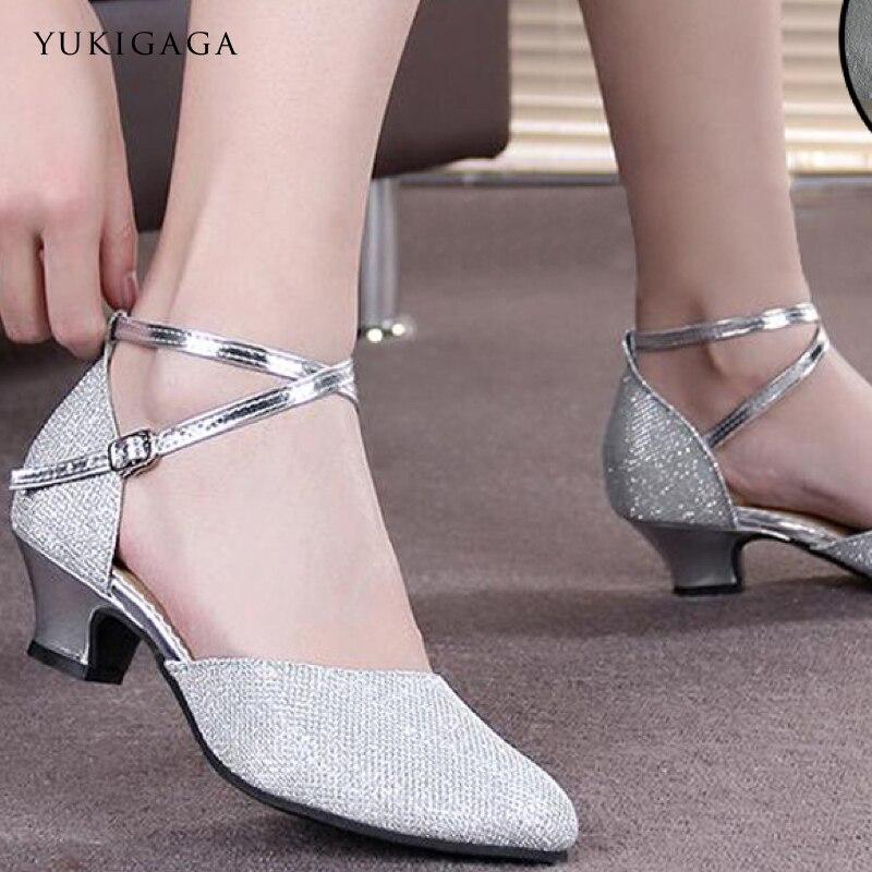 Women Latin Dance Shoes Girls Women's Ladie's Latin Ballroom Tango Salsa Dance Shoes About 3.5cm And 5.5cm Heel