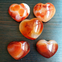 100-130g 5pcs/lot natural red agate crystals heart piedras home decoration crystal healing stones