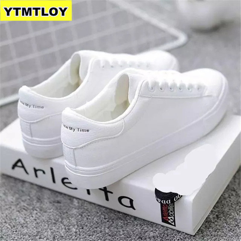 White Sneaker Platform Caual-Shoes Strip-Designer Reflective Fashion Mujer Lace-Up Zapatillas title=