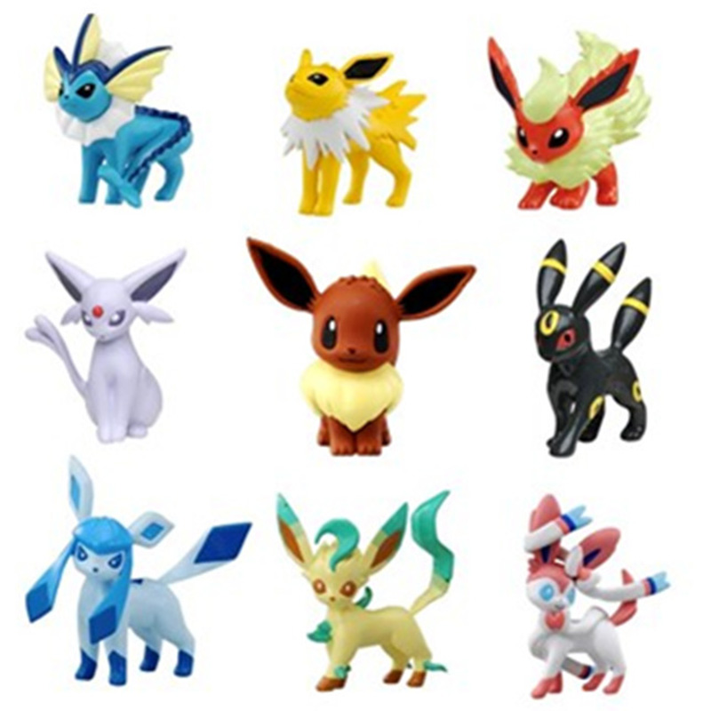 Original Eevee Vaporeon Jolteon Flareon Espeon Umbreon Leafeon Glaceon With Box Pokemonal Action & Toy Figures Collection Toy 1