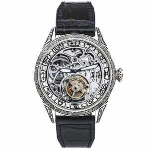Image 5 - Classical Carved Large Dial Mens mechanical Wrist watch Tourbillon movement 50m Fashion Men Skeleton Tourbillon Watches AOHAOHUA