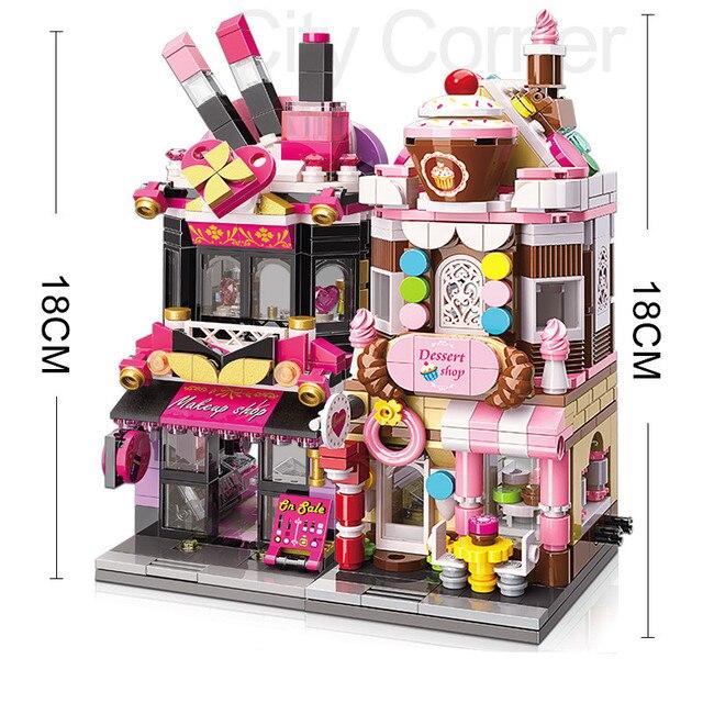 City Friends Stores Blocks Toys Street Shops Locking Building Bricks 4