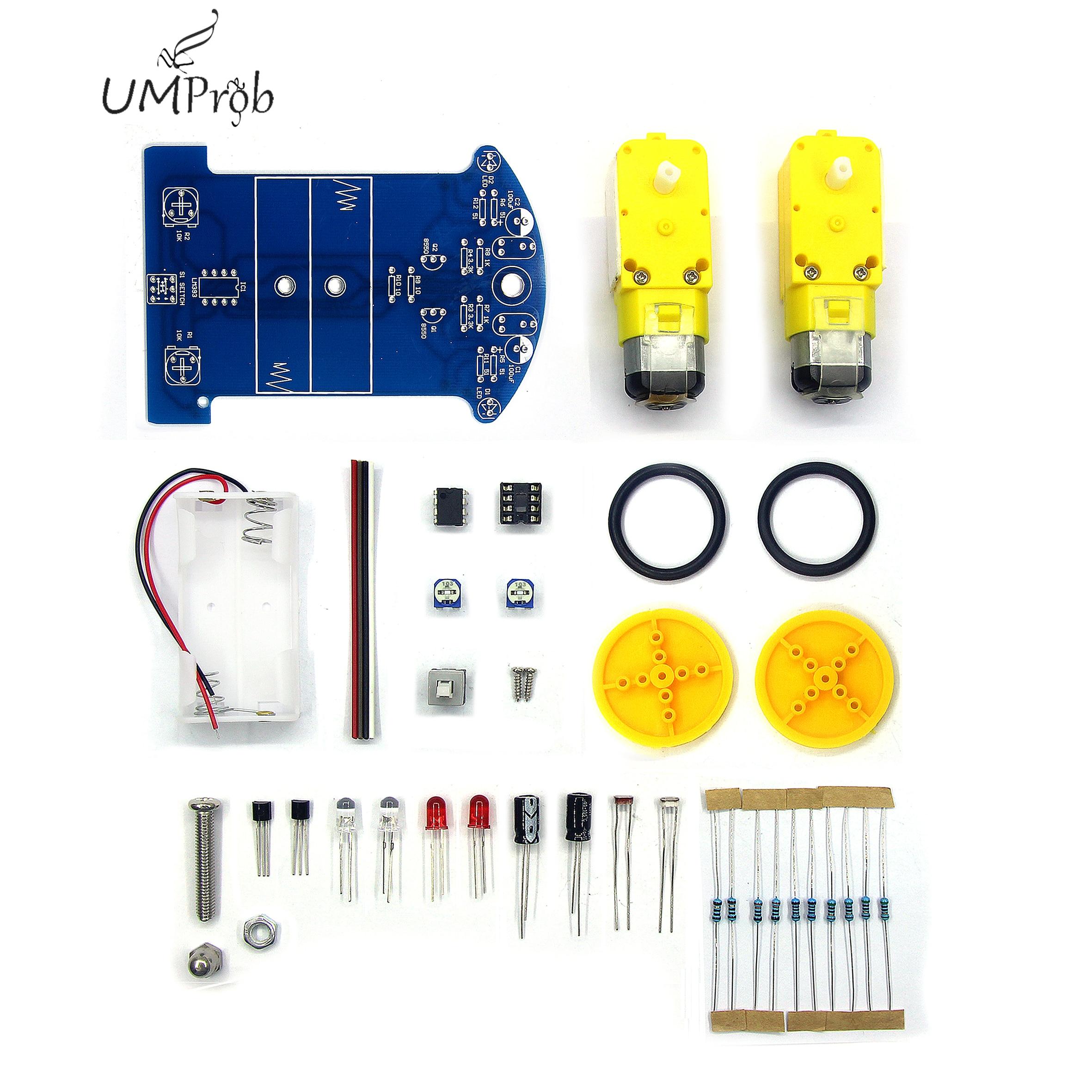 D2-1 DIY Kit Intelligent Tracking Line Smart Car Kit TT Motor Electronic DIY Kit Smart Patrol Automobile Parts DIY Electronic
