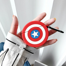 For Apple AirPods Case Soft Silicone American Captains Shield Cartoon Protect Headphones Bluetooth