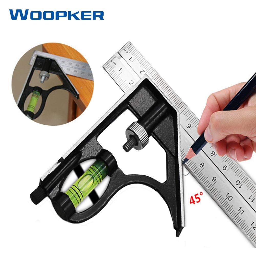 30cm Metal Ruler Horizontal Angle Ruler Metalica Adjustable Combination Stainless Architect Engineer Measuring Tool