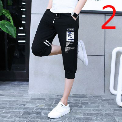 Male Korean Version Of The Trend Of Self-cultivation Men's Pants 2020 New Wave Five Pants   Beach Pants