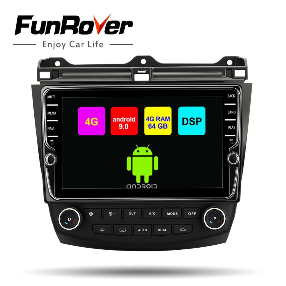 Funrover octa 8 core 2din car multimedia dvd player android 9.0 for <font><b>Honda</b></font> <font><b>Accord</b></font> 7 <font><b>2003</b></font>-2007 SIM radio gps navigation <font><b>stereo</b></font> DSP image