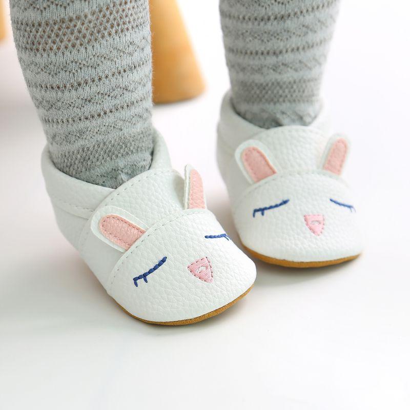 Dessin animé bébé chaussures doux en cuir véritable bébé garçons filles infantile chaussures premiers marcheurs 3