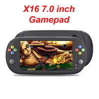 X16 Gamepad 7 Inch Screen Controller Game Console Handheld 8 16 GB Retro Classic Video Portable Player for Arcade Music Joystick