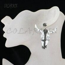 Женские Висячие серьги с буллом, геометрические аксессуары из драгоценных камней, 5 пар, 9426