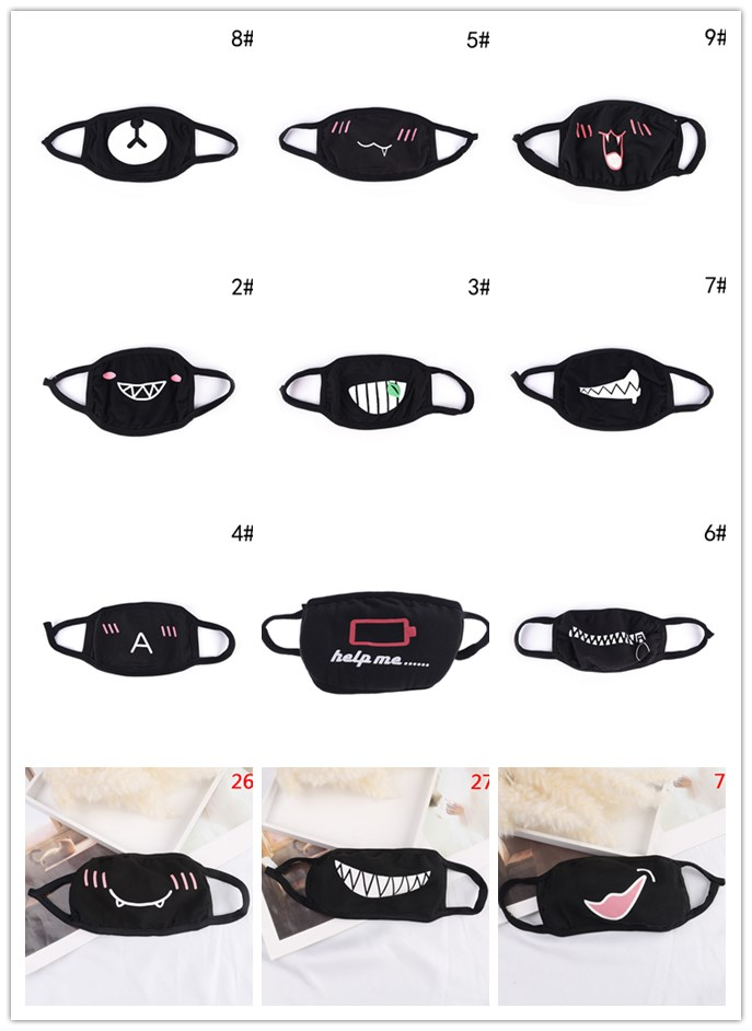 Unisex Cotton Kpop Mouth Face Mask Dustproof Funny Cartoon Cute Women Men Muffle Face Mouth Masks Multistyle
