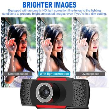 USB Computer Webcam Full HD 1080P Webcam Camera Digital Web Cam With Micphone For Laptop Desktop PC Tablet Rotatable Camera 3