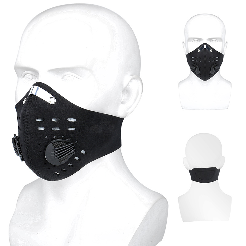 PHMAX Anti-Pollution Cycling Face Mask With KN95 Filters Breathable MTB Bike Sport Training Mask With Activated Carbon Filter