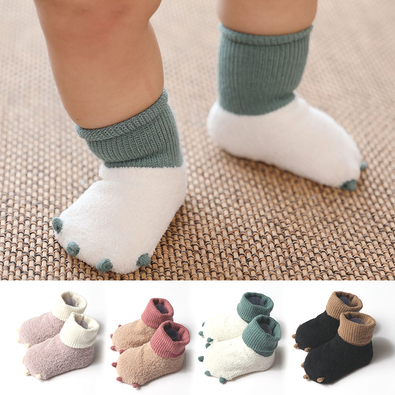 Winter Autumn Cartoon Claws Thick Warm Toddler Shoes Soft Cotton Baby Shoes Newborn First Walkers For Boys Girls Children Shoes