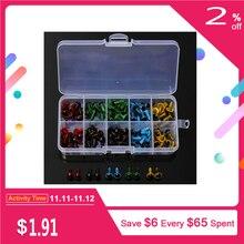 100 шт/50 пар 5 цветов-микс 8 мм пластиковые защитные глаза коробка для плюшевого мишки мягкая игрушка оснастка животное кукла ремесло сделай сам