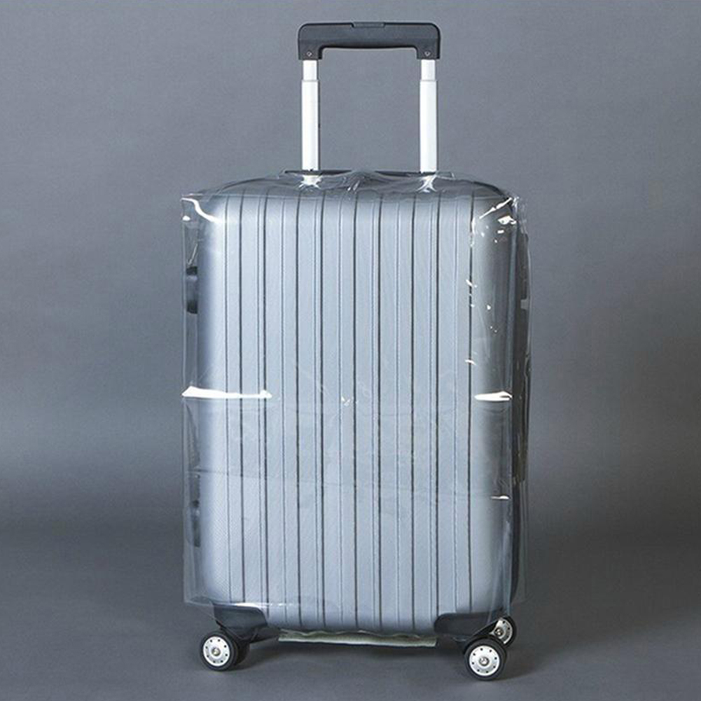 Hot 20/22/24/26/28 Transparent Luggage Cover Waterproof Suitcase Cover Travel PVC Thickening Dustproof Protective Cover
