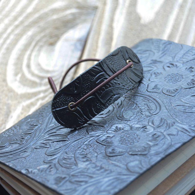 Винтажный кожаный журнал путешествий; Записная книжка, дневник с тиснением, цветочный блокнот, блокнот для рисования, бизнес-письма