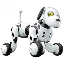 RC หุ่นยนต์ของเล่นสุนัขร้องเพลงเต้นรำอัจฉริยะสัตว์เลี้ยงอิเล็กทรอนิกส์ของเล่นสมาร์ทพูดคุยของเล่น LED น่ารักสัตว์เด็กวันเกิดของขวัญ