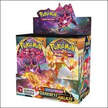 24 pacotes de bônus duplos! Pokemones cards escuridão ablaze conjuntos de reforço de pacote de bônus (36 pacotes de reforço total)