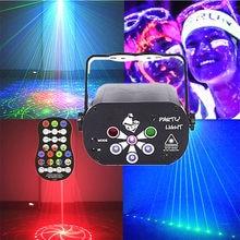Mini UV lamba profesyonel Led sahne aydınlatma yıldızlı gökyüzü gece lambası ışık projektör 6 delik Disko DJ parti ışığı noel düğün için