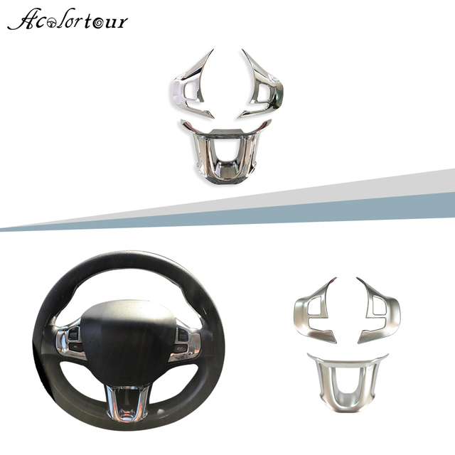 for Peugeot 208 208gti 2008 308t9 2016 steering wheel sticker emblem decal badge trim flying wheel panel interior accessories