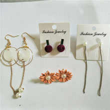 Clearance Treatment Four Pairs of Earrings Geometric Fashion Jewelry  Women Stud