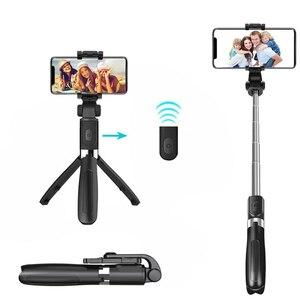 Image 1 - Selfie Stok Bluetooth Selfie Stok Statief Voor Telefoon 3 In 1 Draadloze Monopod Voor Smartphone Mobiele Opvouwbare Handheld L01