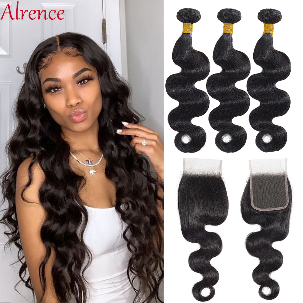 Body Wave Bundles With Closure Brazilian Hair Weave Bundles With Closure Remy Human Hair 3 Bundles With Closure Hair Extension