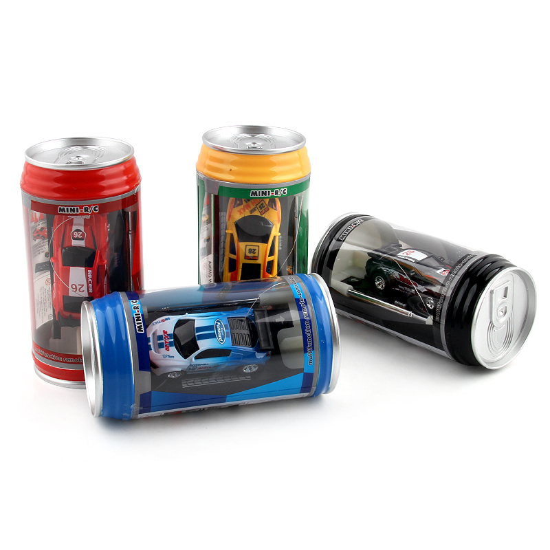 4 Colors Hot Sales Creative Coke Can Mini Car RC Cars Collection Radio Controlled Cars Machines On The Remote Control Toys