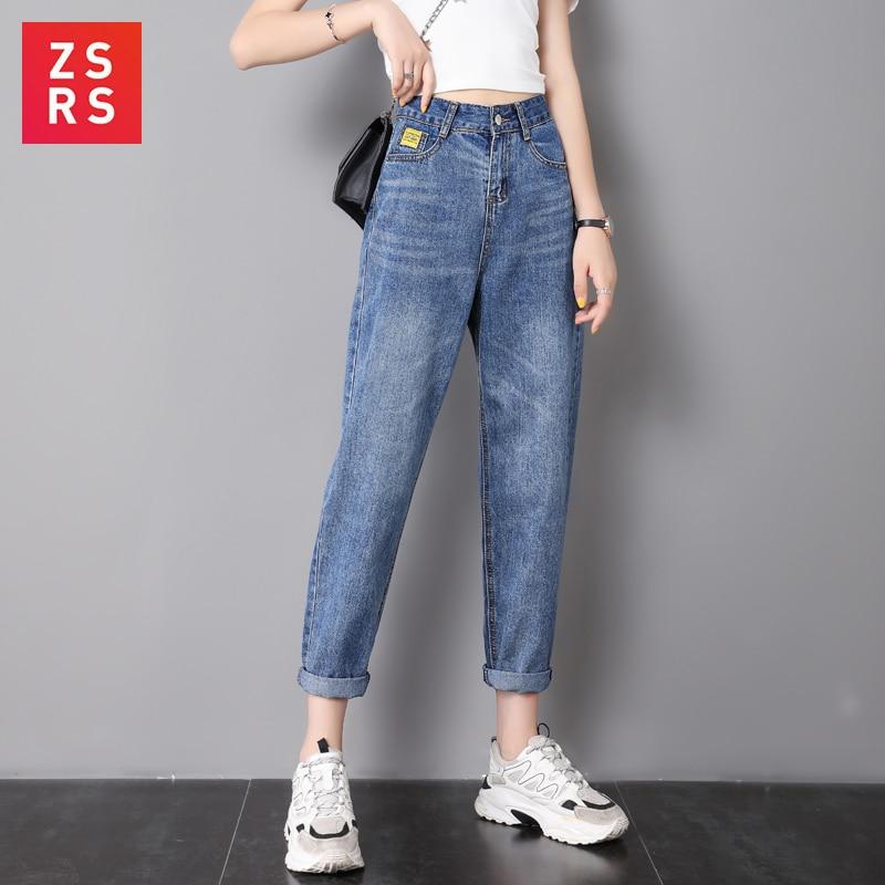 Zsrs Jeans Woman Mom Jeans Pants Boyfriend Jeans For Women With High Waist Push Up Large Size Ladies Jeans Denim 4xl 2019