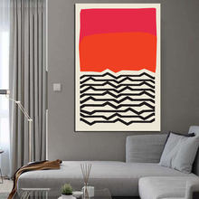 Nordic Modern Geometric Abstract Wave Fashion Style Canvas Painting