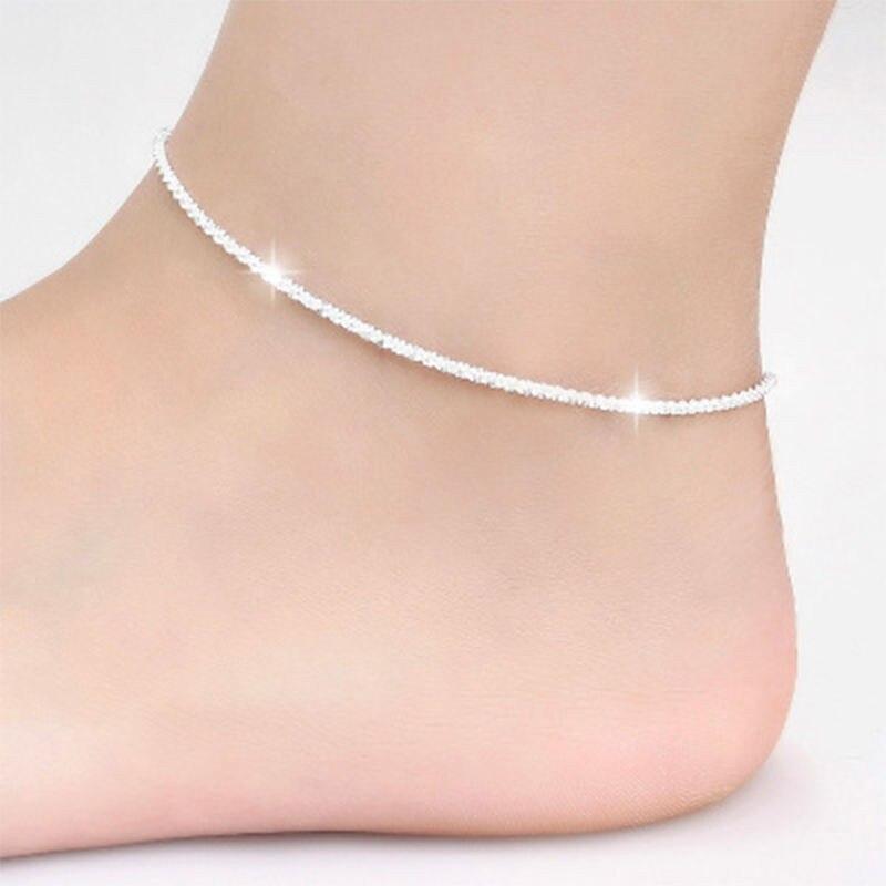 Trendy Hemp Rope Chain Bracelet Anklet tornozeleira Jewelry 21CM Foot Jewelry For Women