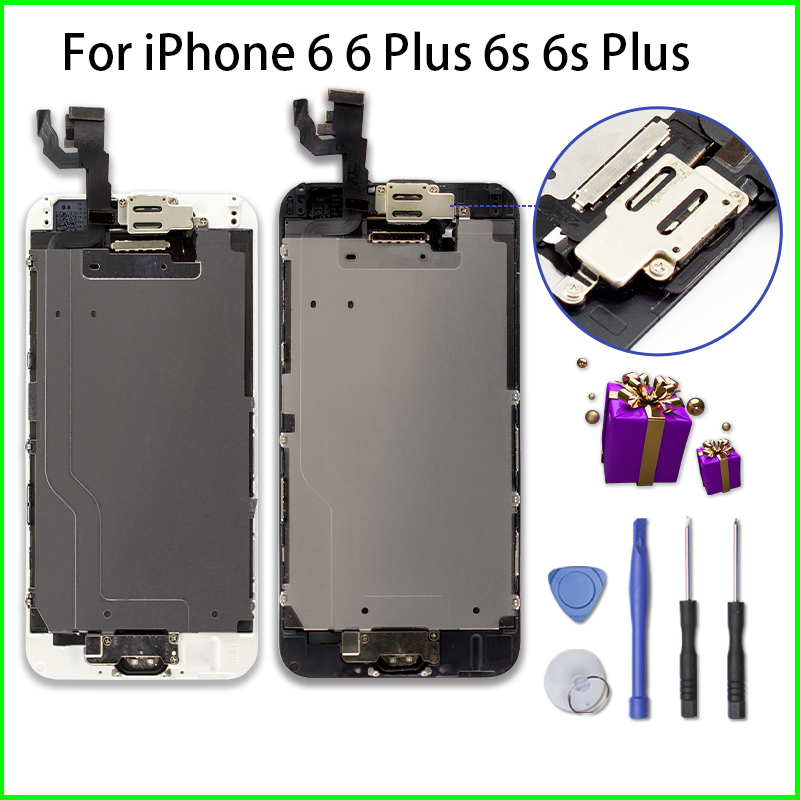Full Set Assembly LCD for iPhone 6 6s 6 Plus 6s Plus Complete Display Touch Screen Replacement wit Repair Tools + Tempered Film image