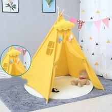 1,35 м большой небеленый брезентовый домик Tipi палатка портативная детская палатка индийские игровые палатки детские палатки маленький домик украшение комнаты