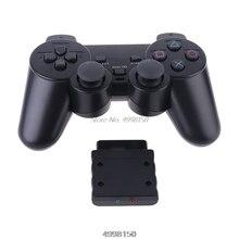 אלחוטי Gamepad ויברטור 2.4G בקר משחק ג ויסטיק עם מקלט עבור PS2 Dropship