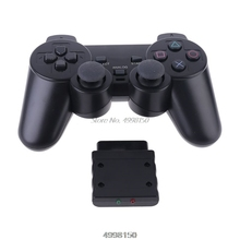 Wireless Gamepad Vibrator 2.4G Game Controller Joystick with Receiver for PS2 Dropship