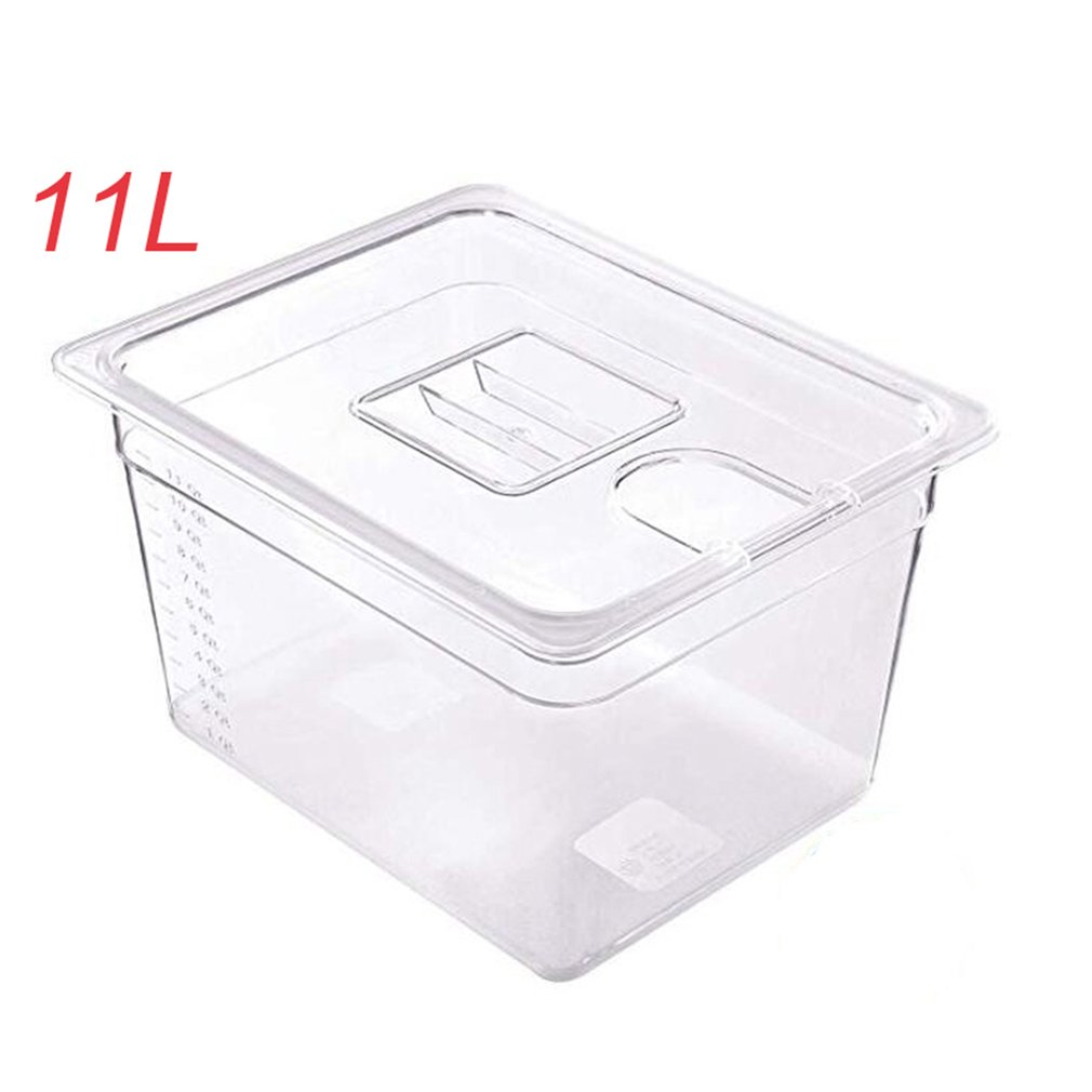Sous Vide Container Steak Machine Container With Lid Water Tank Bath For Circulator Sous Vide Culinary Immersion Slow Cooker